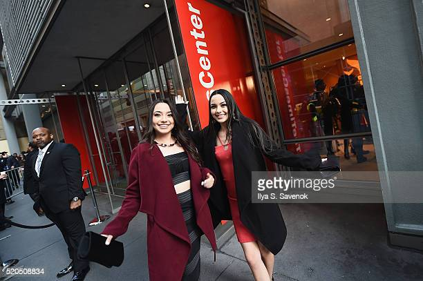 The Merrell Twins Veronica Marrell and Vanessa Merrell attend The 8th Annual Shorty Awards at The Times Center on April 11 2016 in New York City