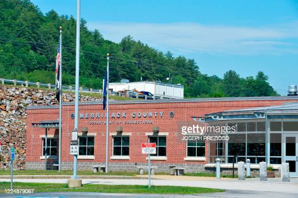 The Merrimack County Department of Corrections in Boscawen New Hampshire is viewed where Ghislaine Maxwell is being held before being transported to...