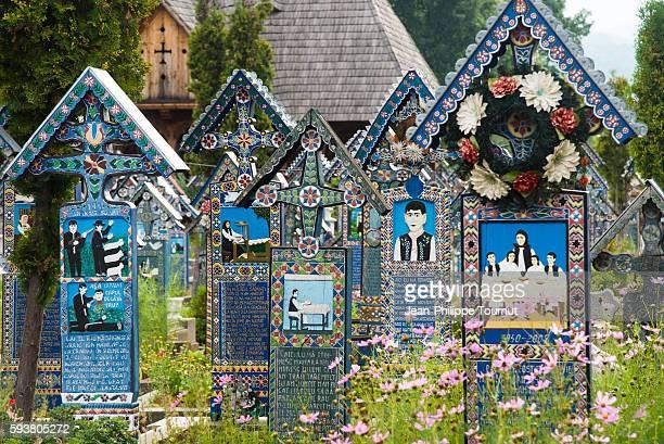 The Merry Cemetery of Sapanta, Maramures region, Romania.