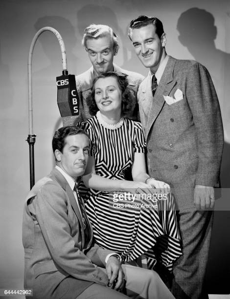 The Merry Macs a swing quartet perform on CBS Radios The Al Pearce Show They feature singer Helen Carroll and three brothers Judd McMichaels Ted...