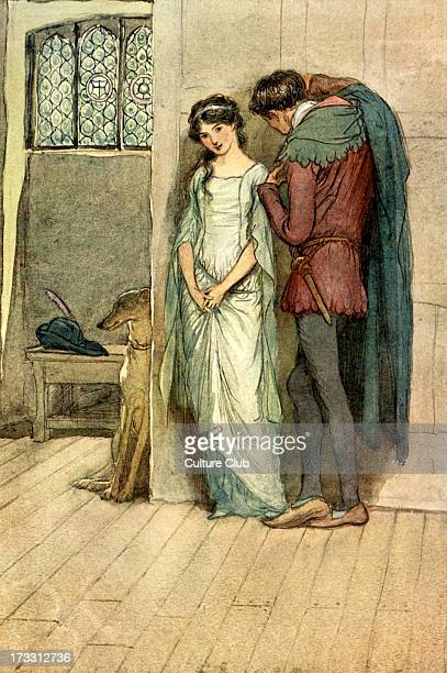 The Merry Wives of Windsor by William Shakespeare Illustration by Hugh Thomson 1910 Act III Scene 4 Caption [Fenton to Anne Page] 'And 'tis the very...