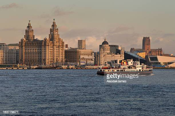 the mersey ferry - merseyside stock pictures, royalty-free photos & images