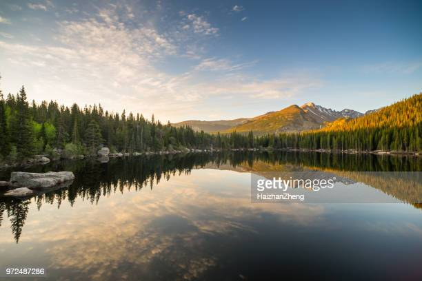 the mesmerizing bear lake in colorado - blue bear stock photos and pictures