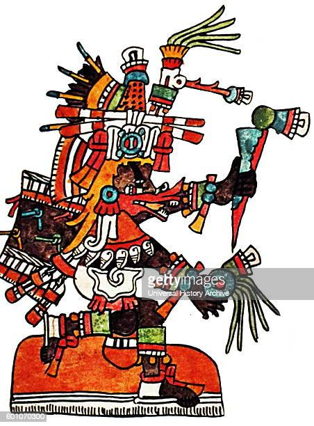The Mesoamerican deity Quetzalcoatl God of Wind and Wisdom a feathered serpent Dated 7th Century