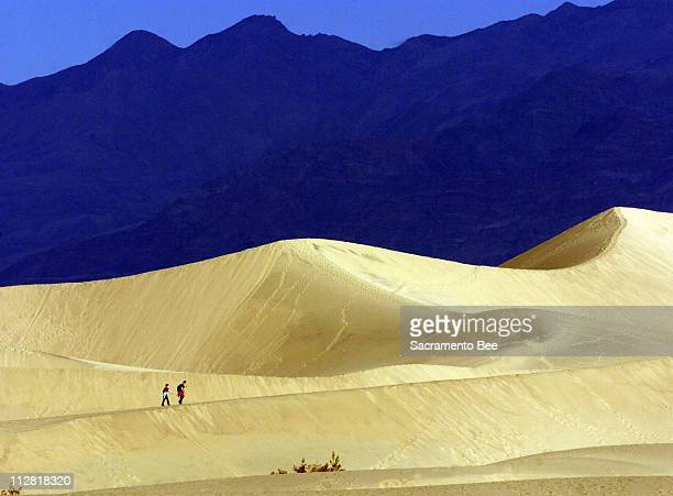 The Mesquite Flat Dunes near Stovepipe Wells in Death Valley National Park are one place visitors don't need to be concerned about leaving tracks