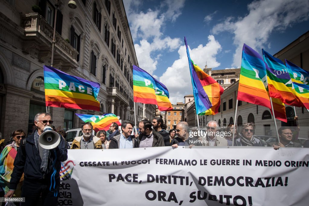 Network of Peace, 'Stop To War', Rally In Rome : News Photo