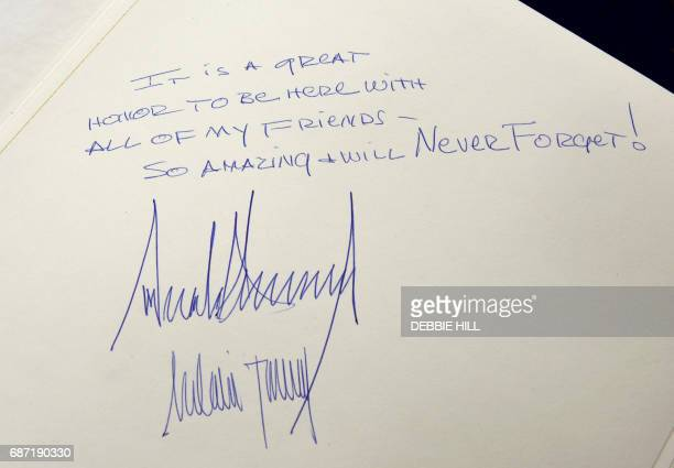 The message written by US President Donald Trump at the Yad Vashem Holocaust Memorial Museum guest book and signed by him and his wife Melania is...