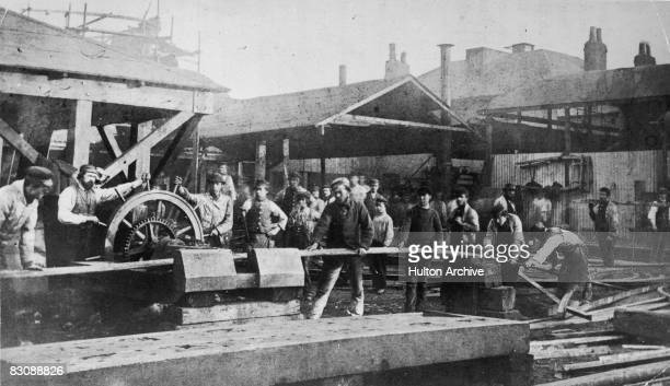 The Messrs Rennie ironworks in London circa 1865