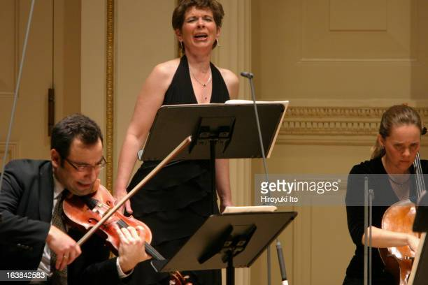 The Met Chamber Ensemble performing at Weill Recital Hall on Sunday afternoon, December 17, 2006.This image;The soprano Susan Narucki, the violinist...