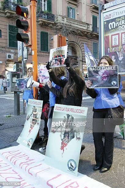 The META Campania with the participation of the 'Fronte Animalista' organized a demonstration to protest against the use and manufacture of fur in...