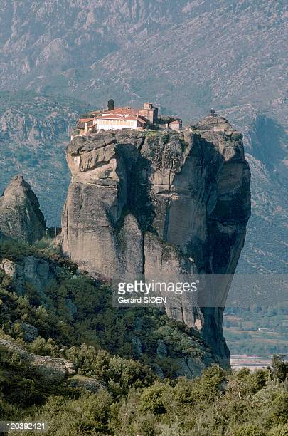 The Meteores in Thessaly Greece Monastery of the Holy Trinity