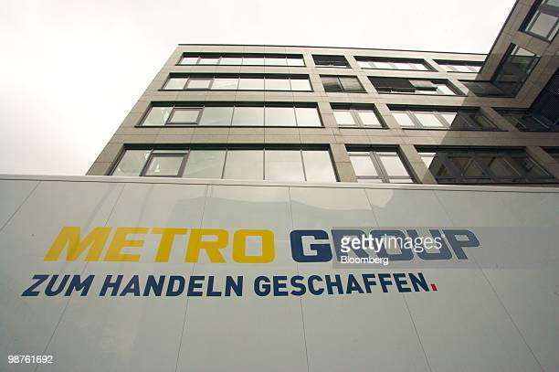 The Metro AG logo is seen at the company's headquarters in Duesseldorf Germany on Friday April 30 2010 Metro AG Germany's largest retailer said its...