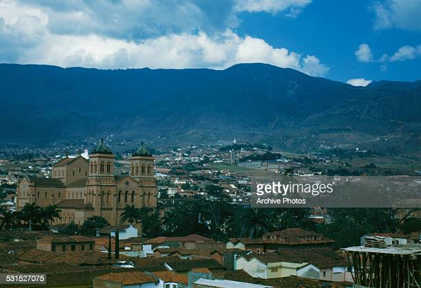 The Metropolitan Cathedral of Medellin in Bolivar Park Medellin Colombia South America circa 1965
