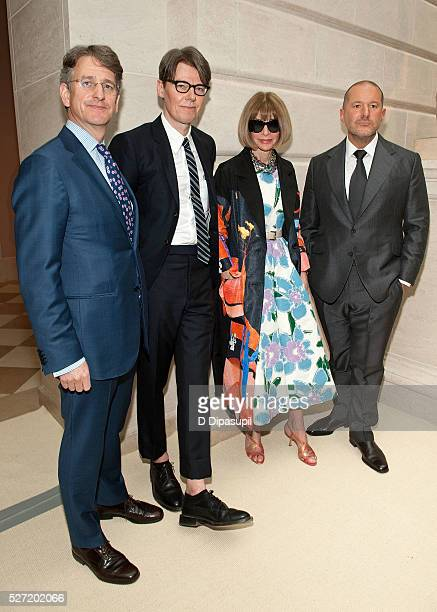 The Metropolitan Museum of Art director Thomas P Campbell The Costume Institute at the Metropolitan Museum of Art curator Andrew Bolton Anna Wintour...