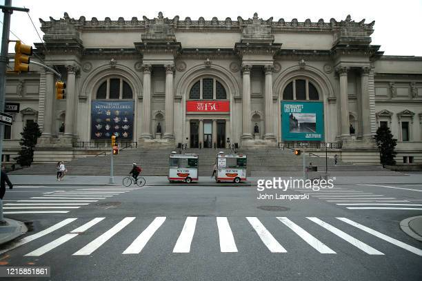 The Metropolitan Museum of Art is closed as New York City attempts to slow down the spread of coronavirus through social distancing on March 30,...