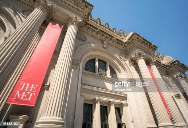 facade du metropolitan museum of art - met art gallery photos et images de collection