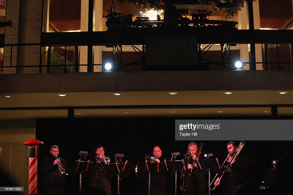 The Metropolitan Opera Brass performs during The Metropolitan Opera Tree Lighting Ceremony at The Metropolitan Opera House on December 6, 2012 in New York City.