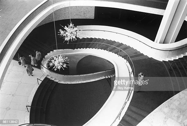 The Metropolitan Opera House, designed by Wallace Harrison, in the Lincoln Center for the Performing Arts in New York, September 1966.