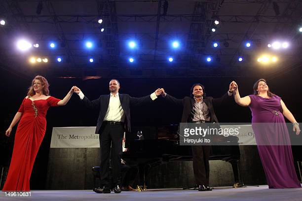 The Metropolitan Opera's Summer Recital Series at Central Park Summerstage on Monday night, July 11, 2011.This image:From left, the mezzo-soprano...