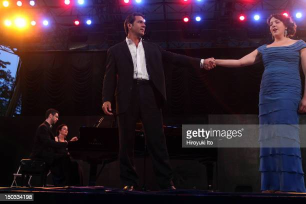The Metropolitan Opera's Summer Recital Series at Central Park Summerstage on Monday night July 12 2010This imageNathan Gunn and Susanna Phillips...