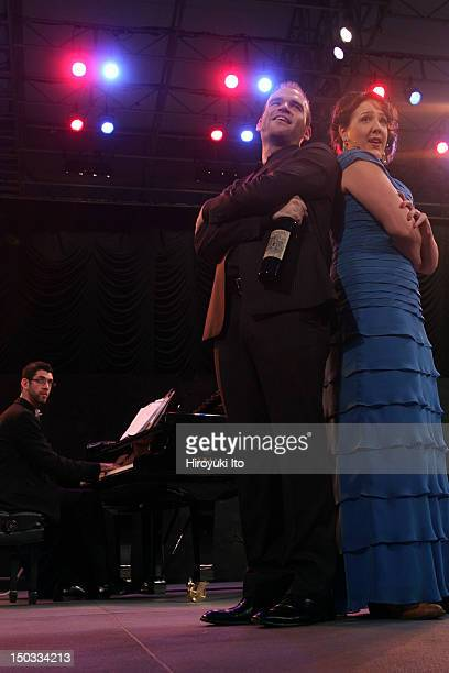 The Metropolitan Opera's Summer Recital Series at Central Park Summerstage on Monday night July 12 2010This imageMichael Fabiano and Susanna Phillips...