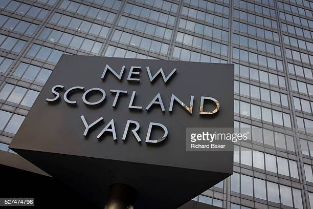 The Metropolitan Police's revolving sign their headquarters at New Scotland Yard in Westminster London Scotland Yard is a metonym for the...