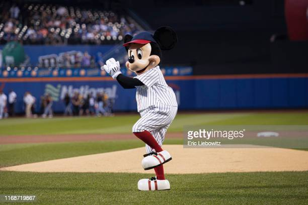 ADVENTURES The Mets welcomed Mickey Mouse to Citi Field in Queens NY where he threw out the first pitch on September 15 2019 in celebration of Disney...