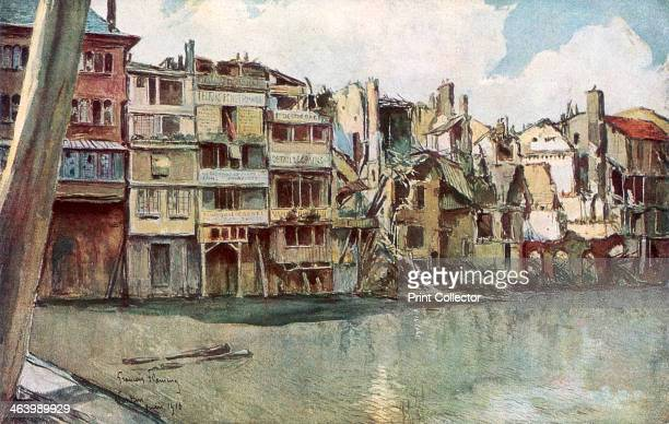 'The Meuse River Verdun' France June 1916 The Battle of Verdun was the longest and one of the bloodiest of the First World War Although not captured...