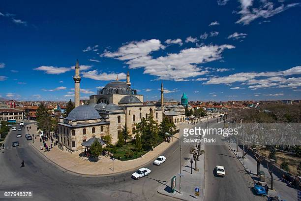 the mevlana complex - central anatolia stock photos and pictures