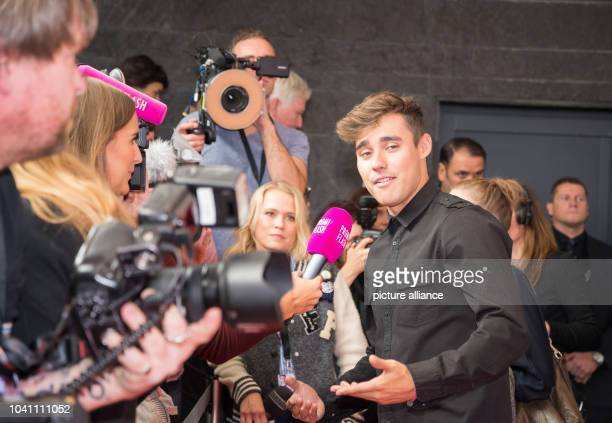 The Mexican actor Jorge Blanco gives interviews at a photocall on the occasion of the the cinema release of 'Tini The Movie' at Cafe Moskau in Berlin...