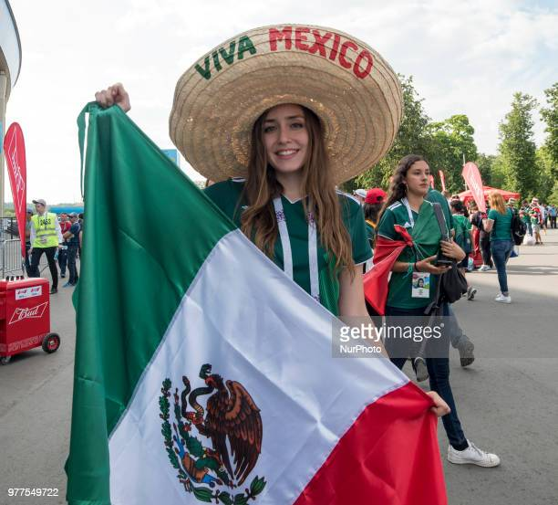 The Mexican fan enjoy the atmpsphere before the 2018 FIFA World Cup Russia Group F match between Germany and Mexico at Luzhniki Stadium in Moscow...