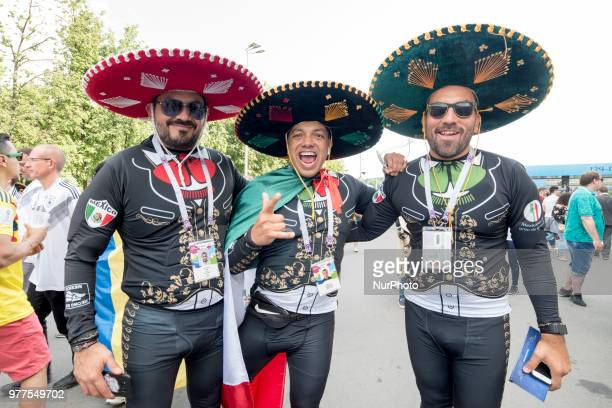 The Mexican fans enjoy the atmosphere before the 2018 FIFA World Cup Russia Group F match between Germany and Mexico at Luzhniki Stadium in Moscow...