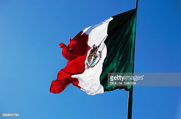 The Mexican flag Ensenada Northern Baja California Mexico