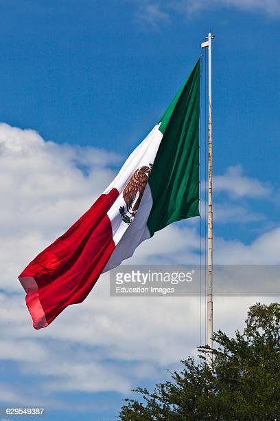 The Mexican Flag, Oaxaca, Mexico.