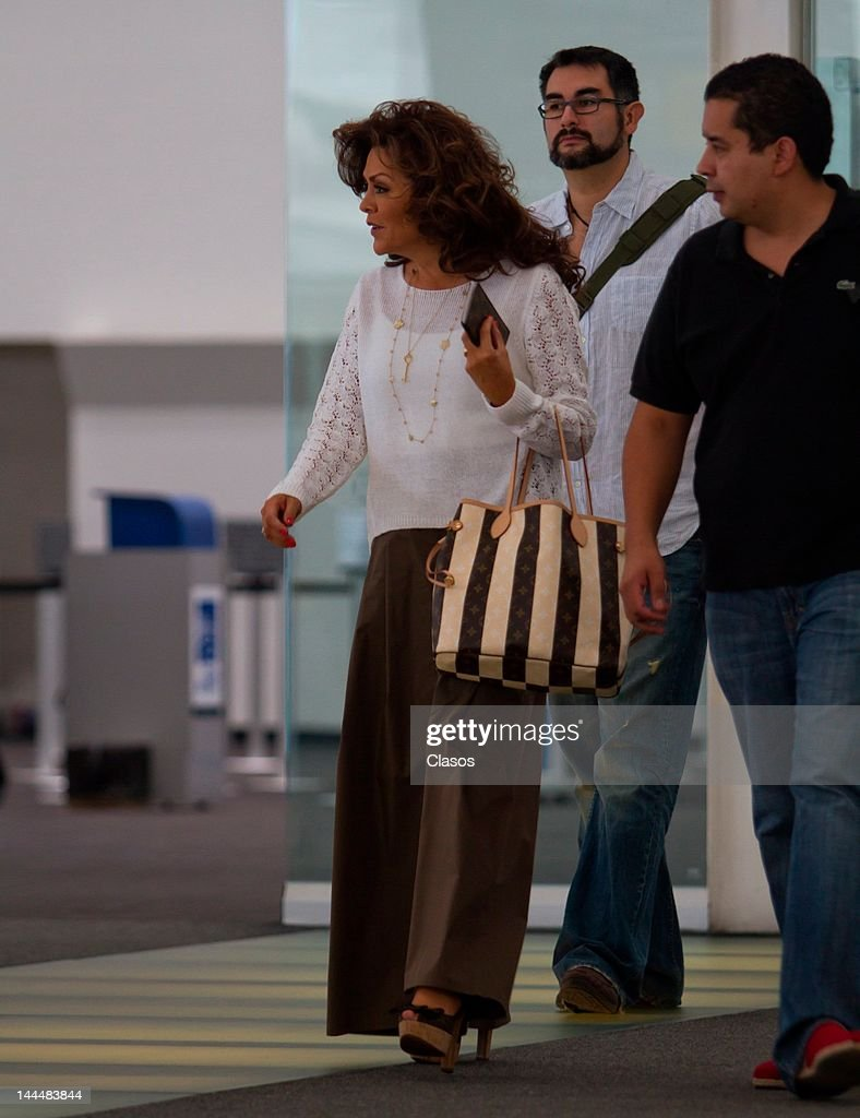 The mexican Journalist Mara Patricia Castaneda walks in the terminal 2 of the international airport Benito Juarez on May 11, 2012 Mexico City, Mexico.
