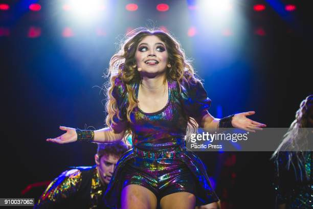 ALPITOUR TURIN TORINO ITALY The Mexican teen idol Karol Sevilla better known as Luna Valente performing live on stage for her first Italian Soy Luna...