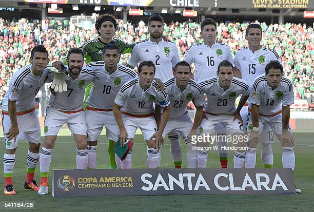 The Mexico starting lineup poses for this picture prior to the start of the game against Chile in the 2016 Copa America Centenario Quarterfinals...