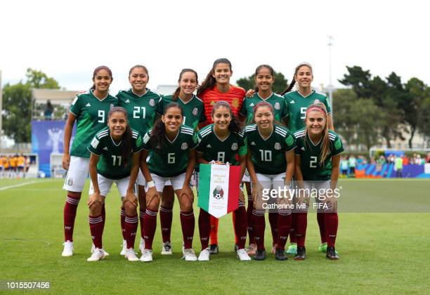 The Mexico team group photo before the FIFA U20 Women's World Cup France 2018 group B match between England and Mexico at on August 12 2018 in...