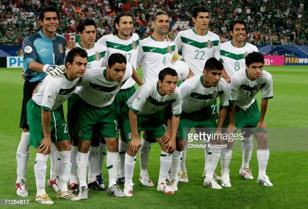 The Mexico team line up prior to the FIFA World Cup Germany 2006 Group D match between Portugal and Mexico at the Stadium Gelsenkirchen on June 21...