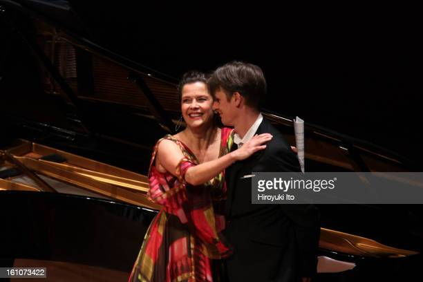 The mezzosoprano Angelika Kirchschlager and the tenor Ian Bostridge accompanied by Julius Drake on piano performing Hugo Wolfe's Selections from...