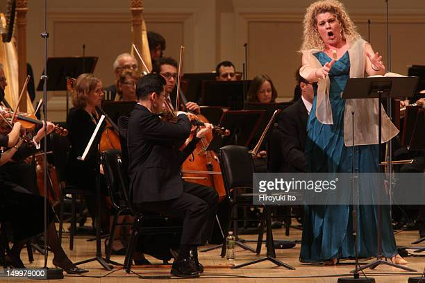 The mezzosoprano Michelle DeYoung performing in Mahler's Das Lied von der Erde with the Met Orchestra led by James Levine at Carnegie Hall on Sunday...