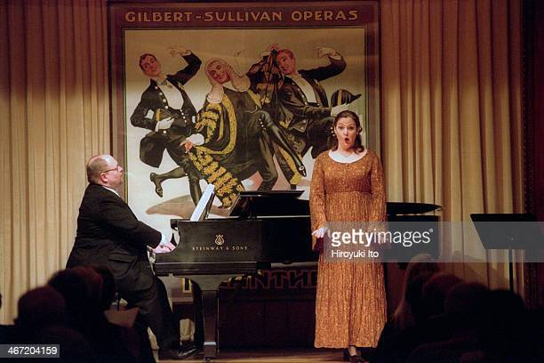 The mezzosoprano Susanne Mentzer with Craig Rutenberg on piano performing the music of Alma Mahler Clara Shumann and Libby Larsen at the Morgan...