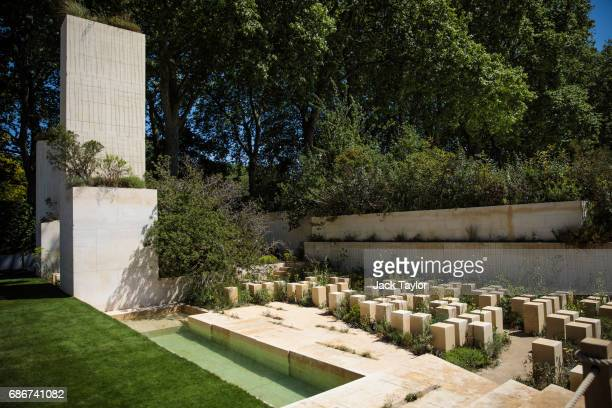 The 'MG Garden 2017' on display at the Chelsea Flower Show on May 22 2017 in London England The prestigious Chelsea Flower Show held annually since...