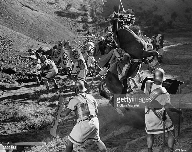 The MGM film adaptation of Shakespeare's 'Julius Caesar' reconstructs the battle of Philippi at which the armies of Caesar's assassins Brutus and...
