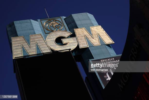 The MGM Grand Hotel and Casino is seen February 20, 2020 in Las Vegas, Nevada. MGM Resorts has acknowledged that personal information related to more...