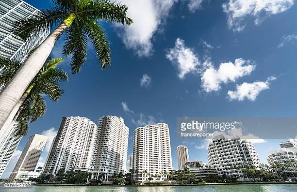 the Miami brickell key aerea in the downtown