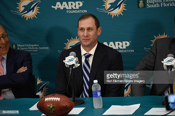 The Miami Dolphins announce Adam Gase as their new head coach on January 9 2016 in Davie Florida