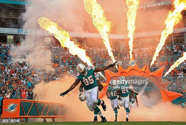 The Miami Dolphins takes the field during a game against the San Francisco 49ers on November 27 2016 in Miami Gardens Florida