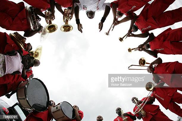 The Miami Heat Street Band performs during the 2007 Family Festival on April 15 2007 at Watson Island in Miami Florida NOTE TO USER User expressly...