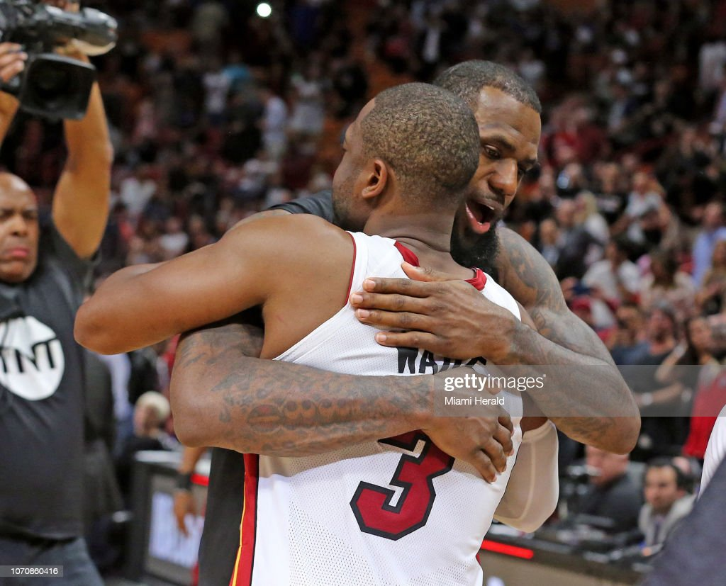 d16c85d01055 Wade says final embrace with LeBron most meaningful of  One Last Dance     News